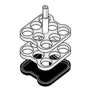 Illustration adapter for glass tubes 8×9 ml